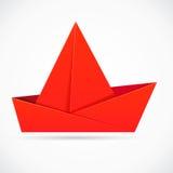 抽象origami船 免版税库存照片