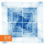 抽象shibori领带被洗染的水彩背景 库存照片