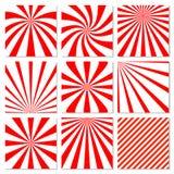 抽象starburst红色背景 辐形线 库存照片