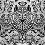 抽象Steampunk蒙太奇 免版税图库摄影