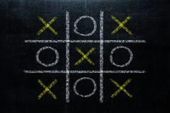 抽象Tic TAC脚趾比赛竞争 XO胜利挑战概念 库存照片