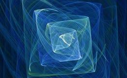 抽象wisping水色蓝色的分数维 免版税库存照片