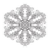 抽象zentangle坛场 免版税库存图片