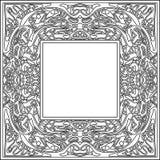 抽象zentangle框架 库存图片