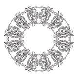 抽象zentangle框架 免版税库存照片