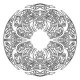 抽象zentangle框架 免版税库存图片
