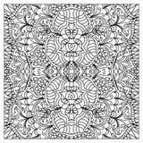 抽象zentangle着色页 库存图片