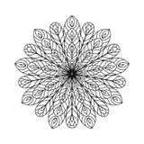 抽象zentangle着色页 免版税库存照片