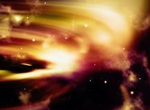 拂去星系金子的灰尘 库存例证