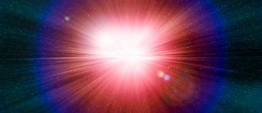 担任主角在宇宙的星系的门爆炸 图库摄影