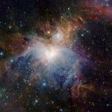 担任主角在空间的星云 免版税库存图片