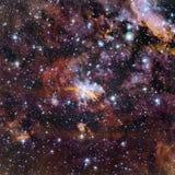 担任主角在空间的星云 库存照片