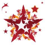 星设计,传染媒介例证 库存照片