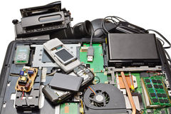 拆卸为电子修理  库存图片