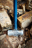 拆毁钢的锤子 库存图片