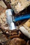 拆毁钢的锤子 库存照片