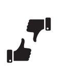 拇指喜欢或不 免版税库存照片