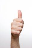 拇指延伸到上面 免版税图库摄影