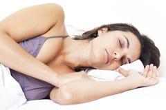 拉丁妇女休眠 免版税库存照片