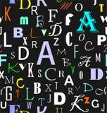 拉丁字母无缝的样式 向量例证