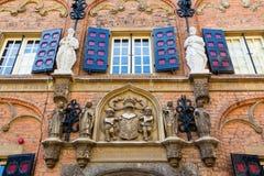 拉丁学校的历史大厦在奈梅亨,荷兰 库存照片