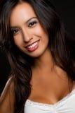 拉丁微笑的妇女 图库摄影