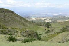 拉丁拉丁美洲的美丽如画的山景 免版税库存图片