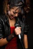 拉丁歌唱家 免版税库存图片