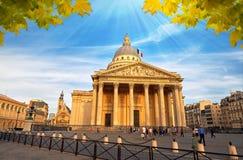 拉丁的Quartier,巴黎法国万神殿 库存照片