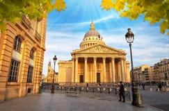 拉丁的Quartier,巴黎法国万神殿 免版税库存图片