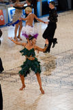 拉丁竞争-舞蹈掌握2012年 免版税库存照片