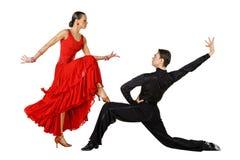 拉丁美州活动的舞蹈演员 免版税库存照片