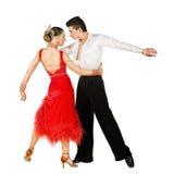 拉丁美州活动的舞蹈演员 免版税库存图片