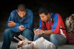 拉丁美洲工作者传讯 库存图片