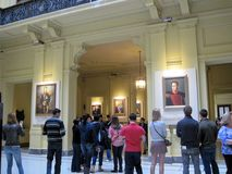拉丁美洲的爱国者的画廊二百年,位于住处Rosada的宫殿的底层 免版税图库摄影