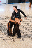 拉丁舞蹈夫妇-舞蹈掌握2012年 库存照片