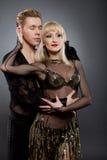 拉丁语的舞蹈演员 库存图片