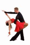 拉丁语02个舞厅的舞蹈演员 图库摄影