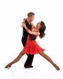 拉丁语03个舞厅的舞蹈演员 库存图片
