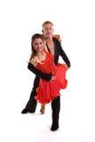 拉丁语05个舞厅的舞蹈演员 免版税库存照片