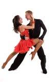 拉丁语08个舞厅的舞蹈演员 图库摄影