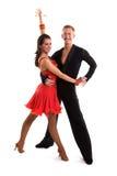 拉丁语14个舞厅的舞蹈演员 免版税库存照片