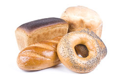 拉伊和麦子面包 免版税库存图片