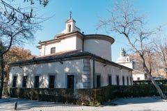 拉佛罗里达圣安东尼皇家教堂在马德里 库存照片