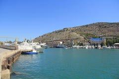 巴拉克拉法帽海湾黑海 库存图片