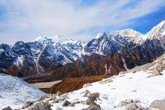 拉克通行证,尼泊尔 库存照片