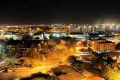 拉克鲁斯港在晚上,委内瑞拉 免版税图库摄影