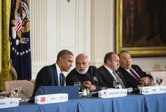 贝拉克・奥巴马和Narendra Damodardas Modi 库存图片