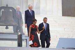 贝拉克・奥巴马,第一夫人米歇尔・奥巴马总统 免版税图库摄影
