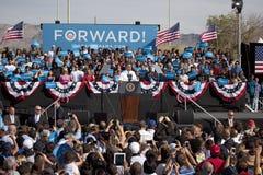 贝拉克・奥巴马总统出现于总统选举集会, 免版税库存照片